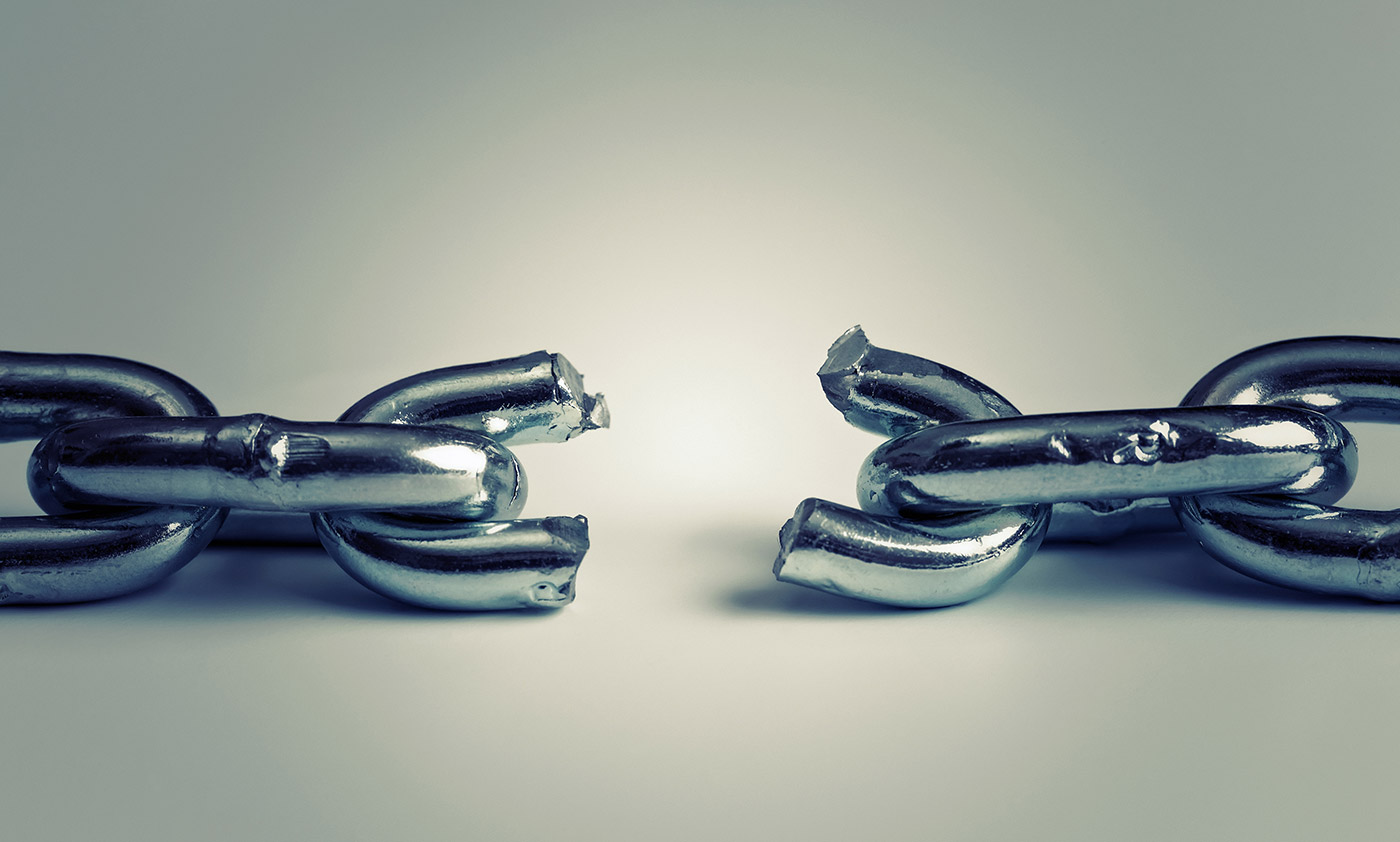A broken chain shows the freedom that can be found when we know How to Find Hope In A Hopeless World